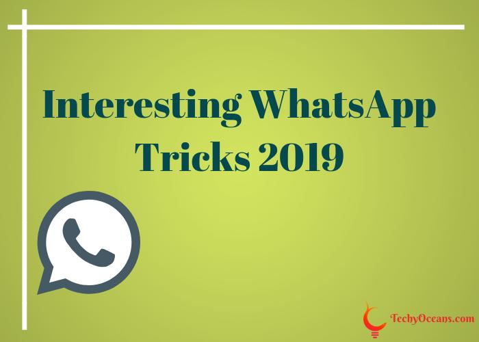 whatsApp tricks 2019