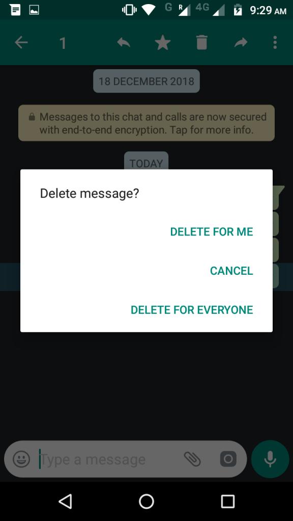 del message