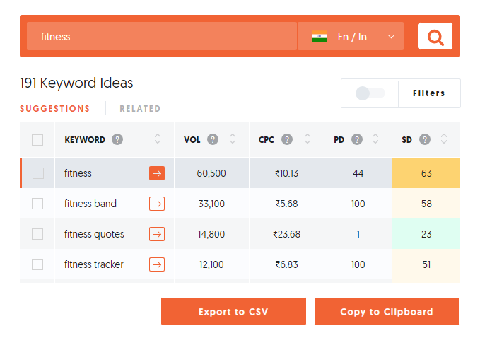 free keyword tool