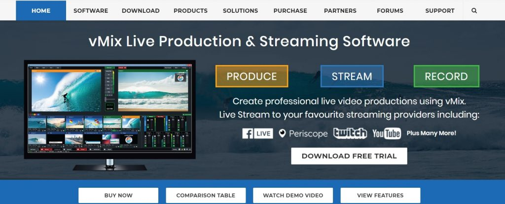 vmix live streaming software