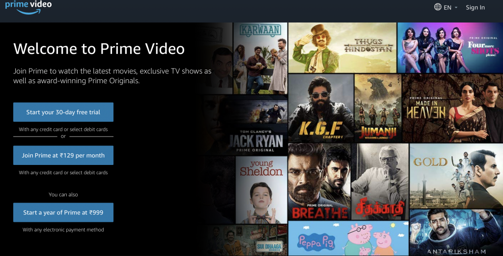 How do i watch movies for free on amazon prime