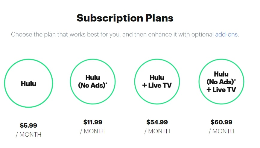 hulu subscription
