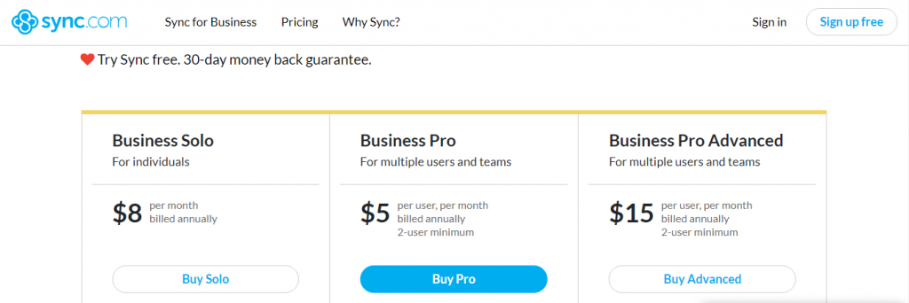 sync free storage tool
