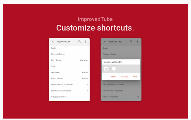 youtube shortcuts extension