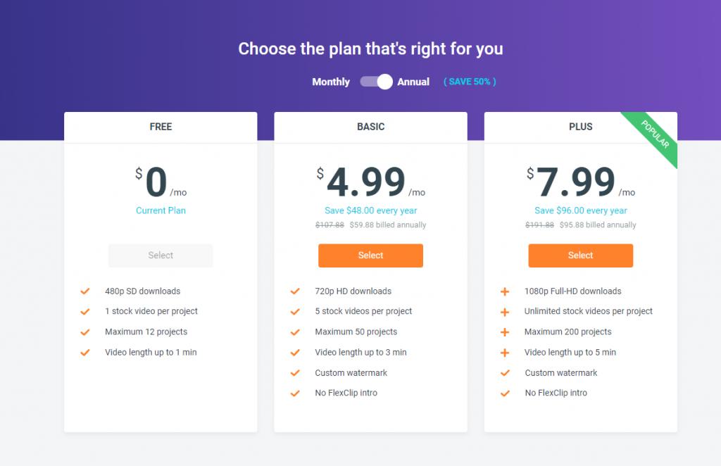 pricing of flexclip