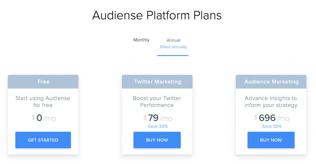audiense pricing