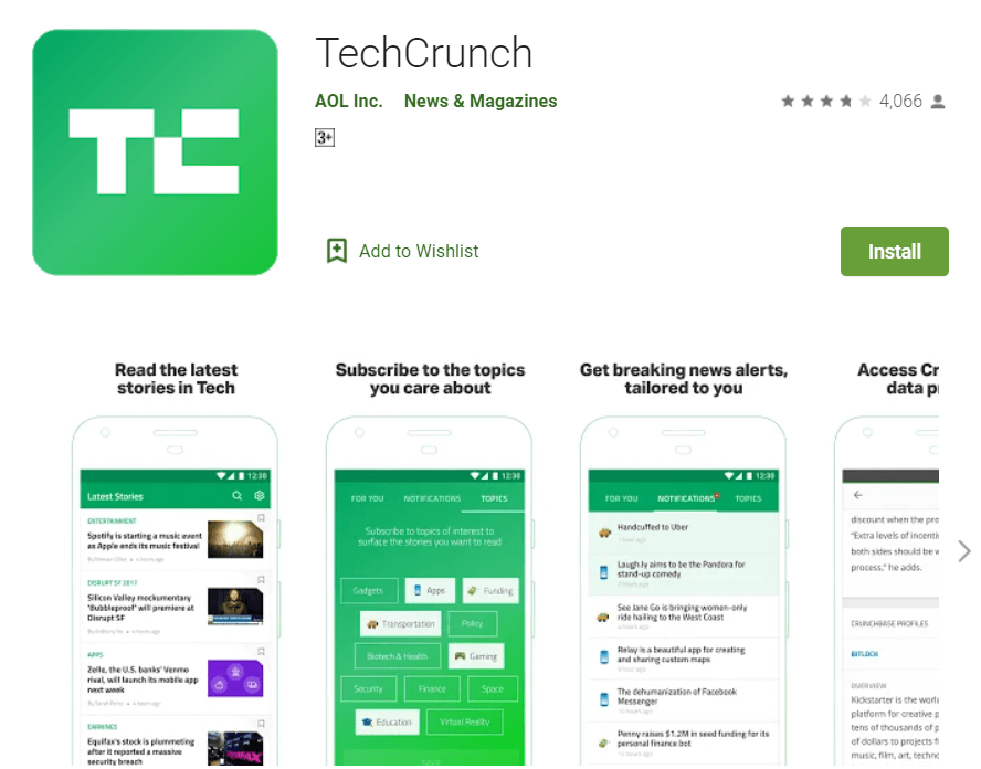 techcrunch news app