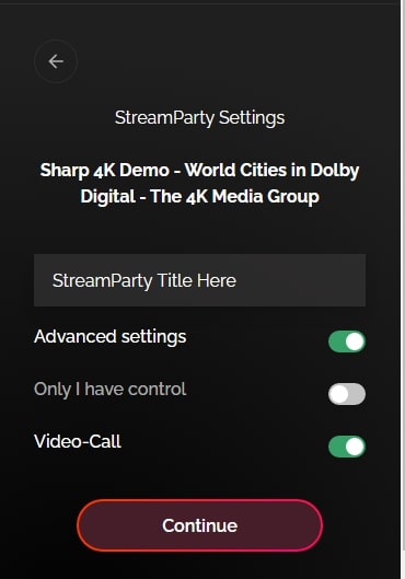streamparty settings